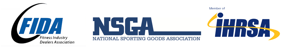 logos for FIDA, NSGA, and IHRSA